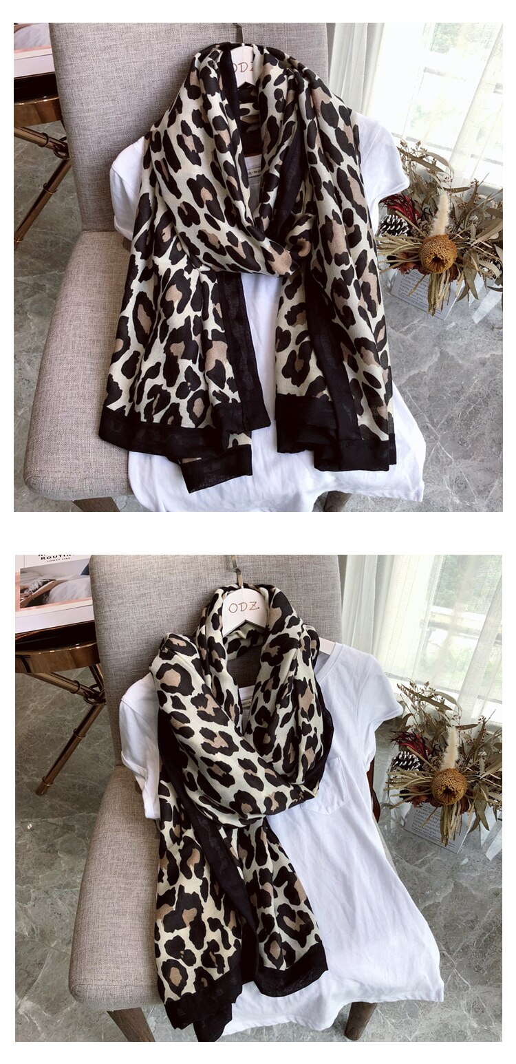 Women's Leppard Printed Scarf