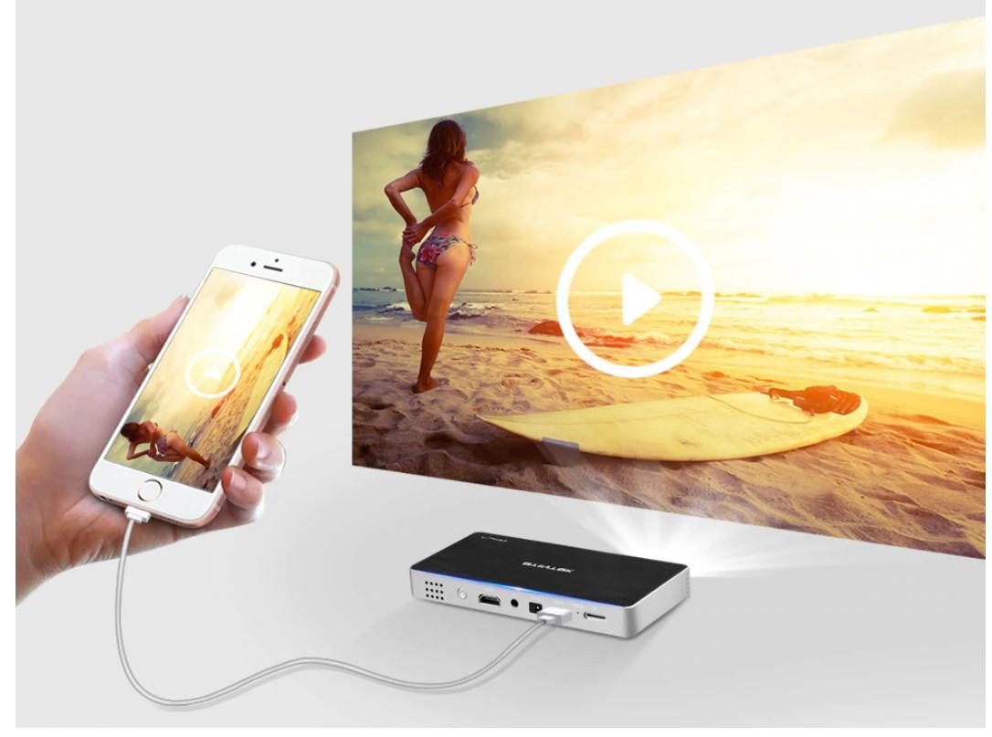 Glossy Pocket Smart Projector